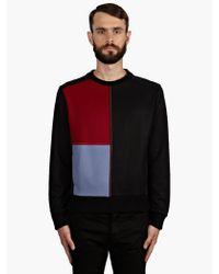 Jonathan Saunders Mens Colourblock Felt Sweatshirt - Lyst