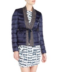 Alysi Knit Trim Puffer Jacket - Lyst