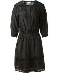 Sea Black Cotton Dress - Lyst