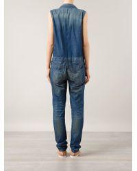 6397 - Sleeveless Denim Jumpsuit - Lyst
