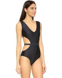 Cm Cia Maritima - Solids Atame Cutout Swimsuit - Lyst