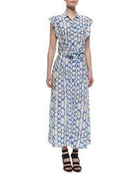 Rebecca Taylor Printed Maxi Dress - Lyst