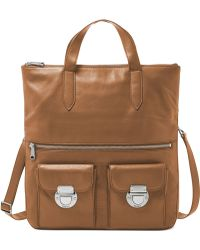 Fossil Riley Leather Foldover Tote - Lyst