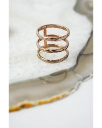 K/ller Collection | Rose Gold Triple Cobra Chain Ring | Lyst