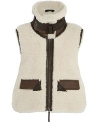 CALVIN KLEIN 205W39NYC - Leather-trimmed Shearling Vest - Lyst