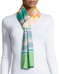 Missoni Striped Knit Scarf - Lyst