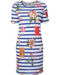 Sonia by Sonia Rykiel Floral Striped T-Shirt Dress - Lyst
