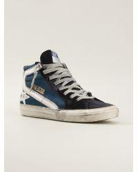 Golden Goose Deluxe Brand Distressed Hitop Sneakers - Lyst
