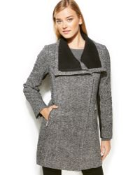 Calvin Klein Asymmetrical Wool-blend Walker Coat - Lyst