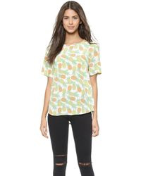 Equipment Riley Tee - Bright White Multi - Lyst