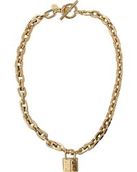 Michael Kors - Chain Link Padlock Toggle Necklace - Lyst