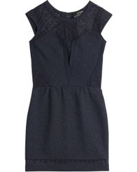 The Kooples Lace Detailed Mini Dress - Lyst