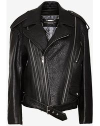 Barbara Bui Zip Around Oversized Moto Jacket - Lyst