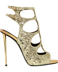 Giuseppe Zanotti 115Mm Glittered Cage Sandals - Lyst