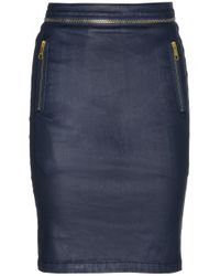 Burberry Brit - Coated Stretchdenim Pencil Skirt - Lyst