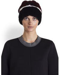 Marni - Striped Mink Fur Hat - Lyst