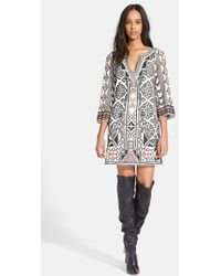 Alice + Olivia 'Lowell' Embroidered Tunic Dress - Lyst