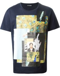Raf Simons Digital Print T-Shirt - Lyst