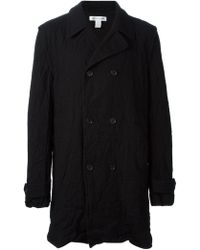 Comme Des Garçons Creaseeffect Double Breasted Coat - Lyst