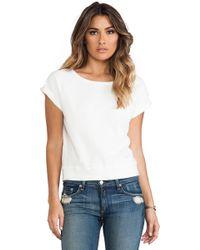 Textile Elizabeth and James - Short Sleeve Perfect Sweatshirt - Lyst