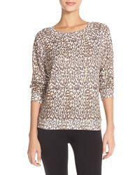 All Things Fabulous - Animal Print Crewneck Sweatshirt - Lyst