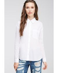 Forever 21 Boxy Button-Down Shirt - Lyst