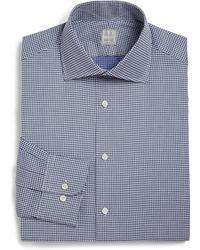 Ike Behar Regular-Fit Patterned Cotton Dress Shirt - Lyst