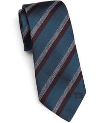Burberry London Striped Silk-Blend Tie - Lyst