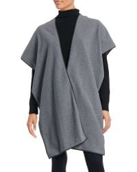 Clover Canyon - Faux Leather Trimmed Poncho - Lyst