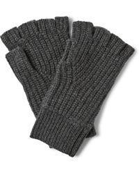 Rag & Bone - Carson Ribbed Cashmere Fingerless Gloves - Lyst