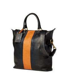 Polo Ralph Lauren - Striped Leather Tote - Lyst