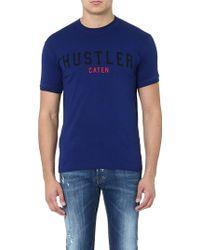 DSquared2 Hustler Cotton Tshirt Blue - Lyst