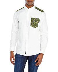 Wesc White Bilal Woven Shirt - Lyst