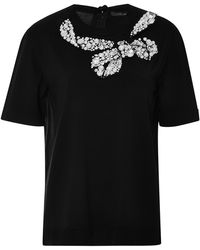 Marc Jacobs Embellished Wool Blend Knit Top - Lyst