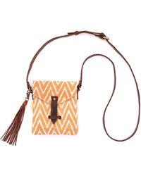 Joyn - Rust Zig Zag Envelope Crossbody Bag - Lyst