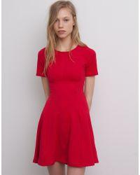 Pull&Bear Seamed Jacquard Dress - Lyst