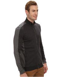 Calvin Klein Color Blocked Full Zip Sweatshirt - Lyst