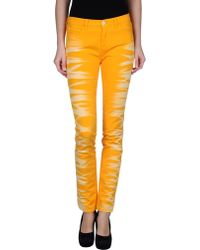 MM6 by Maison Martin Margiela - Denim Pants - Lyst