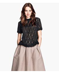 H&M Lace Top - Lyst