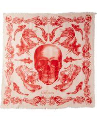 Alexander McQueen Aquatic Skull Scarf - Lyst