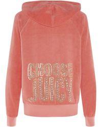 Juicy Couture Choose Juicy Velour Hoodie - Lyst