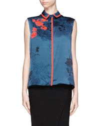 Preen Wyman Rose Print and Embroidery Shirt - Lyst