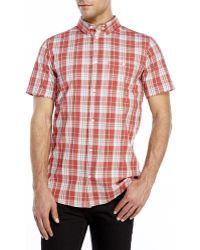 Wesc Short Sleeve Sport Shirt red - Lyst