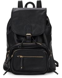 Saks Fifth Avenue - Faux Leather Backpack & Crossbody Set - Lyst