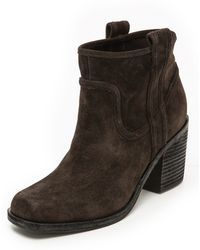 Belle By Sigerson Morrison Lagoon Square Toe Booties  Black - Lyst