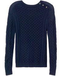 Tory Burch Blue Amirah Sweater - Lyst