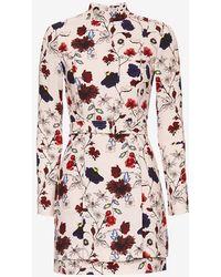 A.L.C. Charles Floral Print Belted Dress beige - Lyst