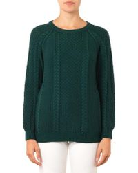 Chinti And Parker Aranknit Wool Sweater - Lyst