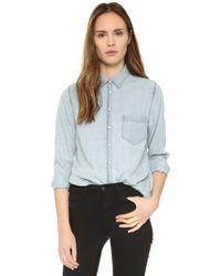 DL1961   The Blue Shirt Shop Mercer & Spring Shirt - Bleach   Lyst