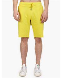 Jil Sander Men'S Yellow Cotton-Jersey Shorts - Lyst
